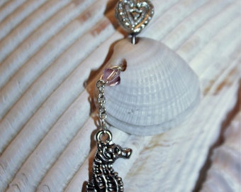 Mermaid collection, seahorse, shell jewelry with Swavorski Crystal