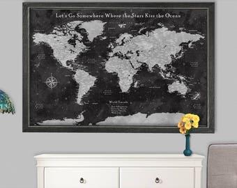 World map push pin etsy gumiabroncs Gallery