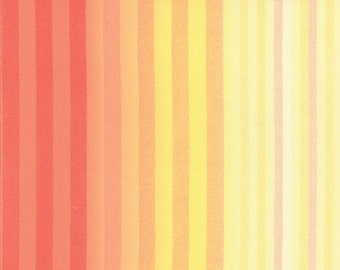 Sale Yellow Pink Stripe > Lulu Watercolor Stripe Sunshine 16117 12 < by Chez Moi from Moda > Fabric by the Yard
