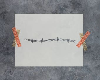 Barbed Wire Stencil - Reusable DIY Craft Stencils of Barbed Wire