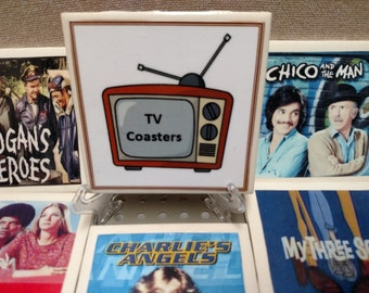 Retro TV Coasters (set of four) Mix and Match any four