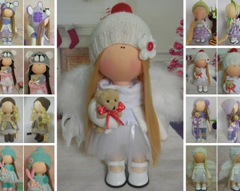 Angel doll Cloth doll Tilda doll Textile doll Handmade doll Fabric doll White doll Soft doll Interior doll Baby doll Nursery doll by Maria M