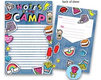 Camp Seal-N-Send Stationery - Denim