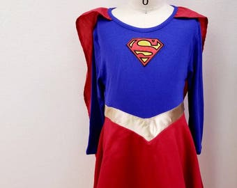 Supergirl inspired dress costume