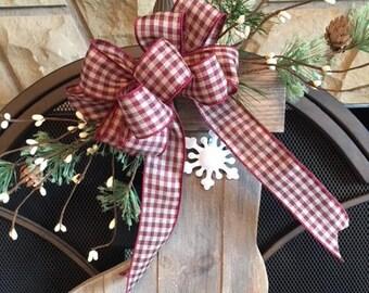 Christmas Front Door Decor / Farmhouse Wood Stocking / Mantle Wood Stocking / Front Door Hanger / Christmas Mantle Decor / Wood Stocking