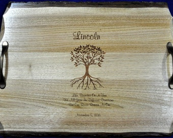 Wedding Gift ~ Engraved Gift For Couple ~ Engraved Serving Tray ~ Wedding Gift For Parents ~ Bridal Shower Gift ~ Gift For Parents ~ Wedding