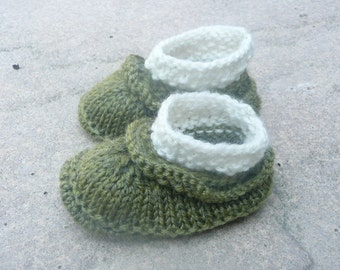 Knitting Pattern Baby Booties Baby Shoes - Simple Seamless Baby Ruffle Boots (0 - 12mths)