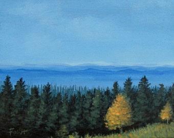 Blue Ridge Mountains, Smoky Mountains, Landscape, Original painting on canvas, Blue Ridge, Foust