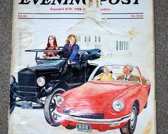 Saturday Evening Post, Fall 1971 edition, well loved, vintage magazine