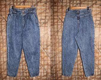 Acid wash 90s Palmettos jeans , High waisted Palmettos jeans , 32 Waist Acid Stone Wash Jeans , Vintage Palmettos , High waist mom jeans