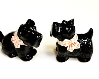 Scottie Dog Salt and Pepper Shakers, Vintage Ceramic Scottish Terriers, Cottage Chic Kitsch Home Decor, Scotty Dog Lover Gift itsyourcountry