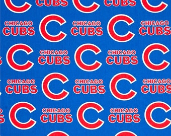 MLB Chicago Cubs 100% Cotton Fabric by the yard