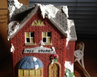 Lighted Christmas House 'Toy Store'