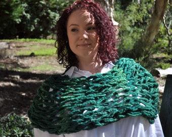 Mermaid green snuggle scarf