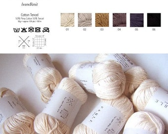 Pima Cotton Tercel Yarn, Worsted Weight, 50g