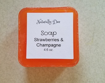 Women's Soap - Strawberries and Champagne