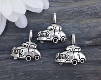 Car Charms, Automobile Charms, 5/10pcs, Antique Silver, Charm with Loop, Silver Car Charm, CH269