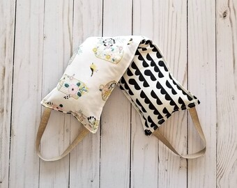 Scented Rice Filled Heating Bag//Microwave Shoulder Wrap with Handles//Aromatherapy/Teacher Gift/Essential Oil Scented/Cold Pack/Heating Pad