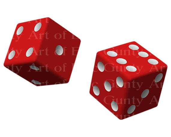 Casino Las Vegas Red Dice Birthday - Edible Cake and Cupcake Topper For Birthday's and Parties! - D22904