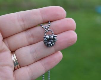 Naturliebhaber - Sterling Silber gegossen saftig Halskette
