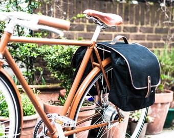 Canvas Double Bicycle Pannier / Bike Pannier / Bicycle Bag / Bike Bag / Pannier