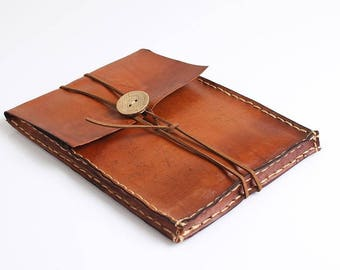 Brown Vegetable Tanned Leather Kindle Case, Kindle Paperwhite Case, E-reader Cover