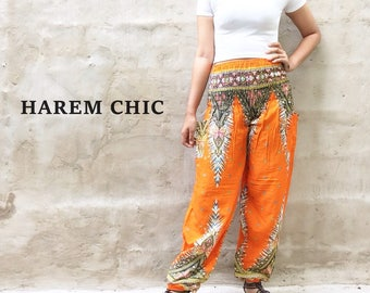 Bohemian Pants Hippie Clothes Boho Pants Gypsy Pants Tribal Pants Yoga Pants Orange.