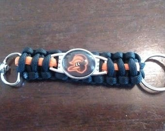 Baltimore Orioles Paracord keychain. Free Shipping!!