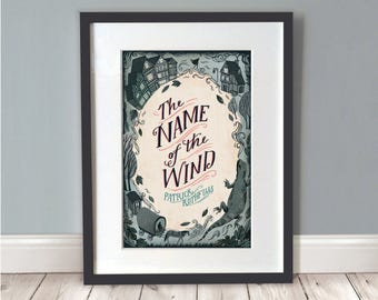 Name Of The Wind Print / Book Poster / Book Art / Fantasy Print / Wall Art / Book Lover Gift / A3 Print