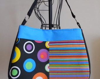 Bright Stripes and Dots Tote