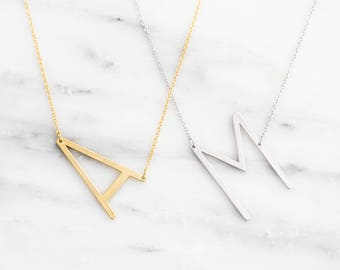 a letter necklaces to z initial necklace personalized product jewelry