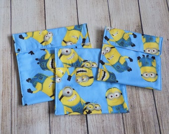 Minions reusable snack bags