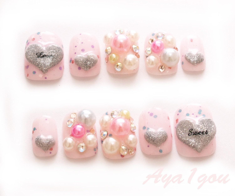 Short nails winter nails yume kawaii fake nails 3D nail