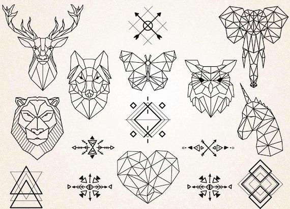 geometric tattoos clipart geometric animals clipart animals. Black Bedroom Furniture Sets. Home Design Ideas