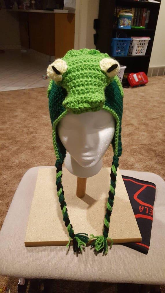 Crochet pattern for alligator or crocodile hat
