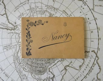 Ancient Postcards Album of Nancy - Home of French Art Nouveau - Set of French Black & White Photos