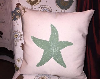 Starfish/Starfish Pillow/Sea Life/Sea Life Decor/Beach/Seashells