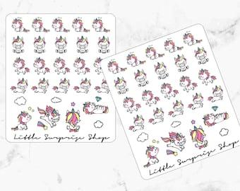 Kawaii Unicorn Stickers//KA010