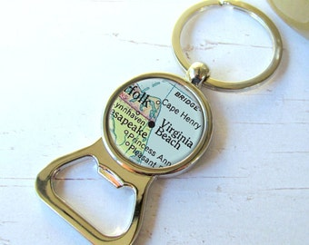 Custom Map Bottle Opener, Map Keychain, Personalized Groomsman Gift, Men's Gift