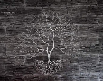 Wire Tree on the wall