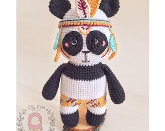 Pattern: MUNA THE PANDA- Amigurumi Crochet Pattern