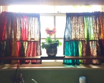 Curtains, patchwork, Kalamkari, handmade curtains, kitchen,home and living,  Heidi's Curtains