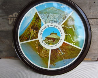 Vintage Whiteface Mountain, NY Souvenir Tray Home of the 1980 Olympics
