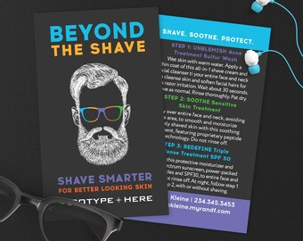 Rodan and Fields Beyond The Shave Cards, RF Beyond The Shave, Mens Skincare, Mini Shave, Digital Files, Personalized