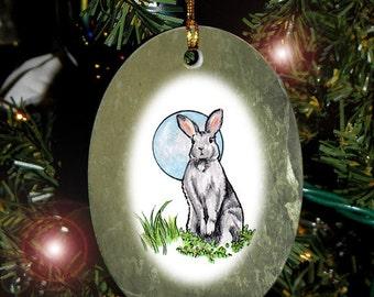 Rabbit Totem Animal Yule, Holiday, Christmas Ornament