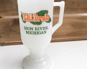 Vintage Iron River, Michigan Ski Brule Mug
