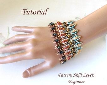 FIACLE SIORC beaded bracelet beading tutorial beadweaving pattern seedbead beadwork jewelry beadweaving tutorial beading pattern instruction