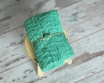 Seafoam Premium Cheesecloth Newborn Wrap Set *  Gauze Wrap * Newborn Tieback * Photo Prop * Newborn Wrap * Baby Headband