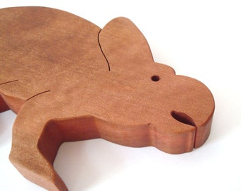 Large Protoceratops Wooden Dinosaur Toy Waldorf Wood Toy Dinosaur Children's Toys