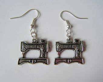 Earrings ♥ ♥ silver Sewing Machines